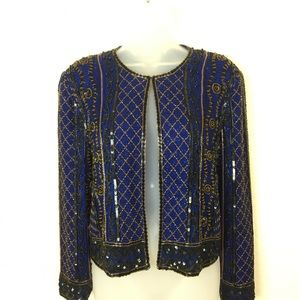 Adrianna Papell Size Small Vintage Beaded Jacket
